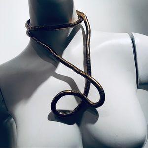 Vintage Y2K Brass Bendable Necklace/Bracelet